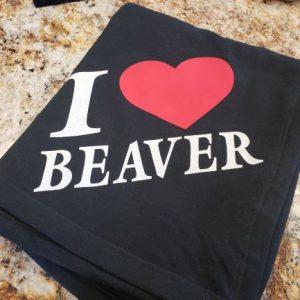 I Love Beaver Blanket