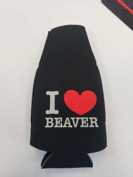 I Love Beaver Koozie Bottle