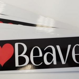 I Love Beaver Sticker